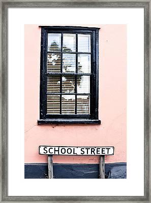 School Street Framed Print by Tom Gowanlock