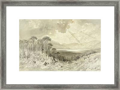 Scottish Landscape Framed Print by Gustave Dore
