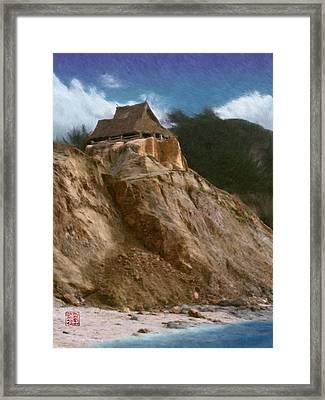 Seacliff House Framed Print by Geoffrey C Lewis