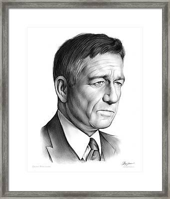 Sean Pertwee Framed Print by Greg Joens