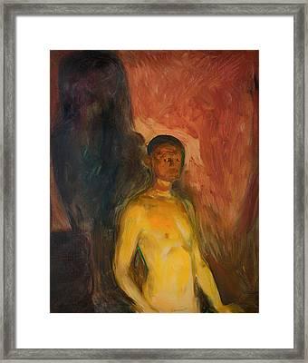 Self Portrait In Hell Framed Print by Mountain Dreams