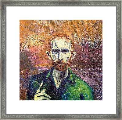 Self Portrait Framed Print by John  Nolan