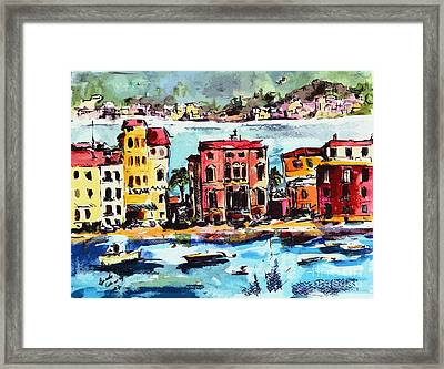 Sestri Levante Italy Bay Of Silence Framed Print by Ginette Callaway
