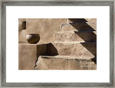 Shadows Of Tumacacori Framed Print by Sandra Bronstein