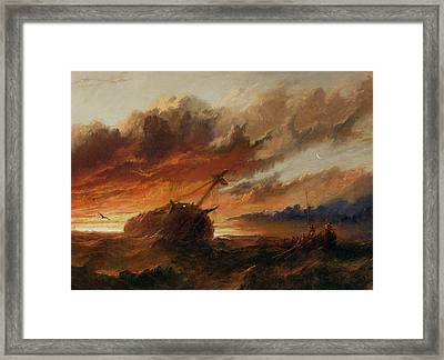 Shipwreck Framed Print by Francis Danby