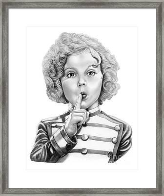 Shirley Temple Framed Print by Murphy Elliott