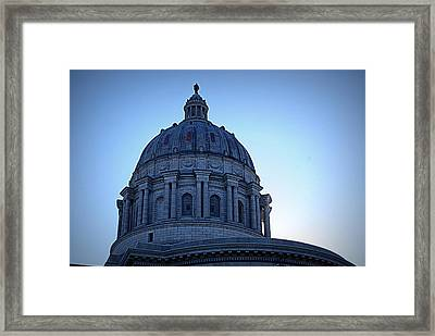 Show-me State Capitol Framed Print by Cricket Hackmann