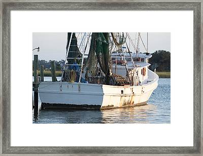 Shrimp Boat Framed Print by Dustin K Ryan