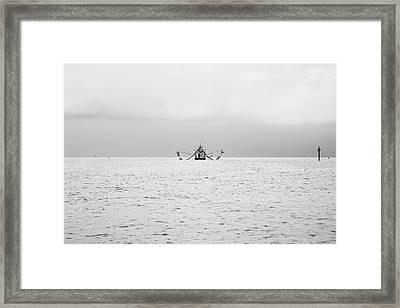 Shrimp Boat In The Pass Framed Print by Scott Pellegrin