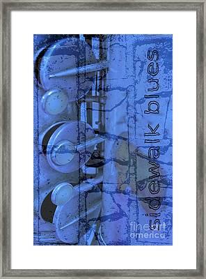 Sidewalk Blues Framed Print by Gwyn Newcombe
