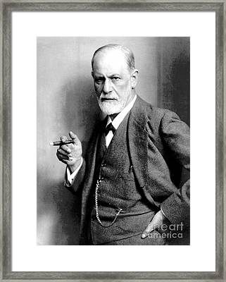 Sigmund Freud, Father Of Psychoanalysis Framed Print by Science Source