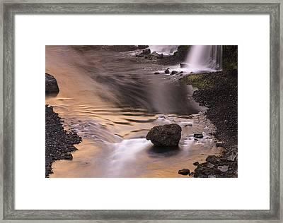 Sigoldufoss Waterfalls Iceland 1315 Framed Print by Bob Neiman