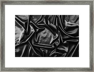 Silk Fabric Framed Print by Les Cunliffe