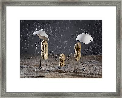 Simple Things - Taking A Walk Framed Print by Nailia Schwarz
