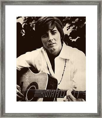 Singer Bobby Sherman 1969 Framed Print by Mountain Dreams