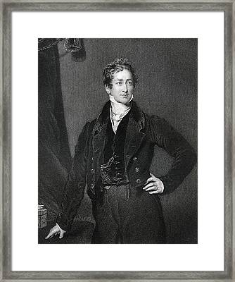 Sir Robert Peel 2nd Baronet 1788 To Framed Print by Vintage Design Pics