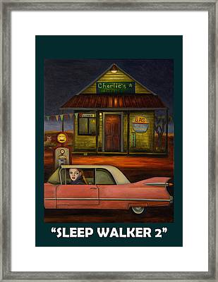 Sleep Walker 2 Framed Print by Leah Saulnier The Painting Maniac