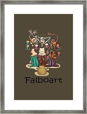 Smoking Belly Dancers Framed Print by Anthony Falbo