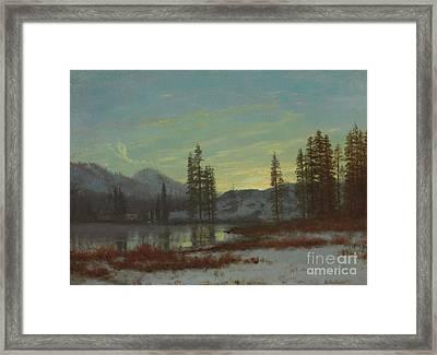 Snow In The Rockies Framed Print by Albert Bierstadt