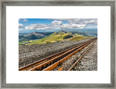 Snowdon Mountain Railway Framed Print by Adrian Evans