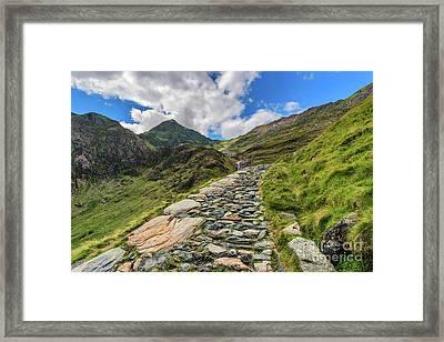 Snowdon Summit Framed Print by Adrian Evans