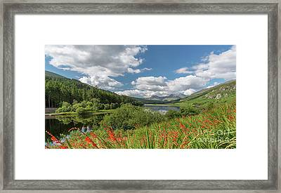 Snowdonia Lake Framed Print by Adrian Evans