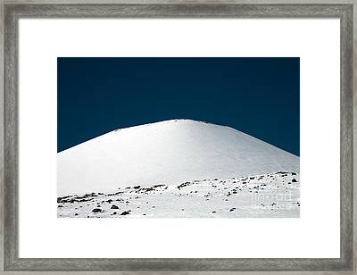 Snowy Mauna Kea Framed Print by Peter French - Printscapes