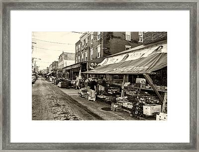 South Philly - Italian Market Framed Print by Bill Cannon
