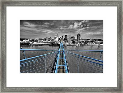 South Tower - Selective Color Framed Print by Russell Todd