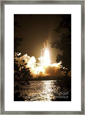 Space Shuttle Endeavour Liftoff Framed Print by Stocktrek Images