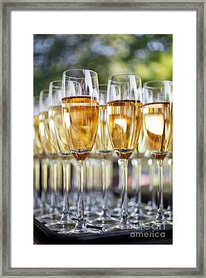 Sparkling Wine Framed Print by Kati Molin