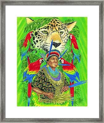 Spirit Of The Jaguar Framed Print by Tim McCarthy