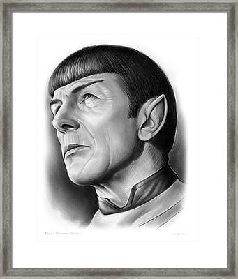 Spock Framed Print by Greg Joens