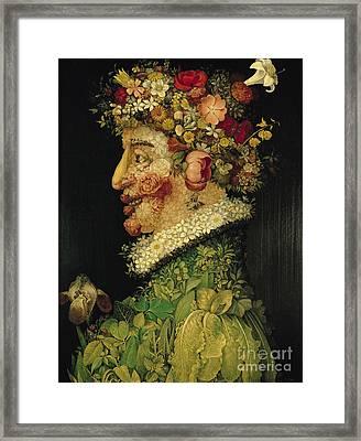 Spring Framed Print by Giuseppe Arcimboldo