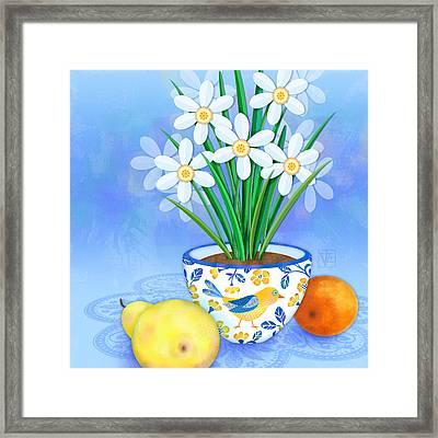 Spring's Promise Framed Print by Valerie Drake Lesiak