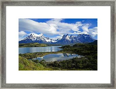 Springtime In Patagonia Framed Print by Michele Burgess