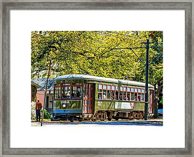 St. Charles Ave. Streetcar 2 Framed Print by Steve Harrington