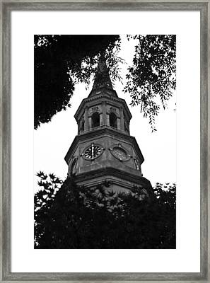 St. Philips Church Steeple Framed Print by Dustin K Ryan