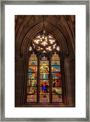 Stained Glass Windows Framed Print by Jessica Jenney