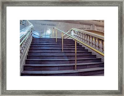 Stairs At Grand Central Terminal Framed Print by Saurav Pandey