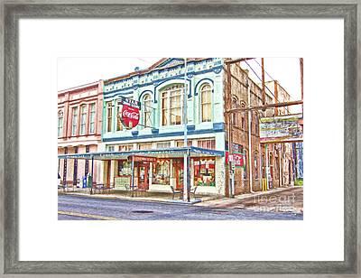 Star Drug Store Framed Print by Scott Pellegrin