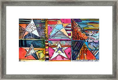 Star Power Framed Print by Mindy Newman