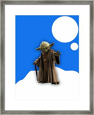Star Wars Yoda Collection Framed Print by Marvin Blaine