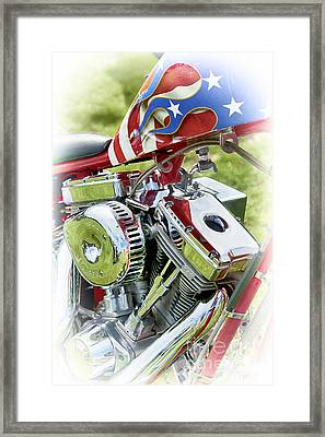 Stars And Stripes Harley Framed Print by Tim Gainey