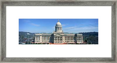 State Capitol Of Kentucky, Frankfort Framed Print by Panoramic Images