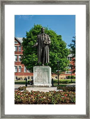 Statue Of Chief Justice John Marshall Framed Print by Mountain Dreams