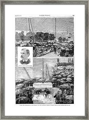 Statue Of Liberty, 1884 Framed Print by Granger