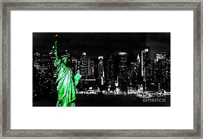 Statue Of Liberty Framed Print by Gull G