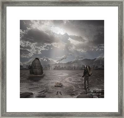 Steampunk Traveler Framed Print by Keith Kapple