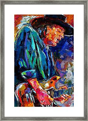 Stevie Ray Vaughan Framed Print by Debra Hurd